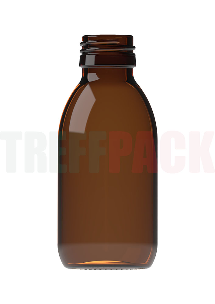 Syrup Bottle amber 125 ml