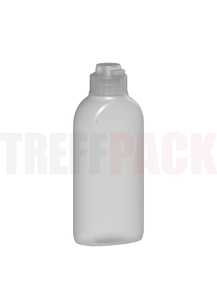 Flip Top Closure for Bottles for Hand Disinfection